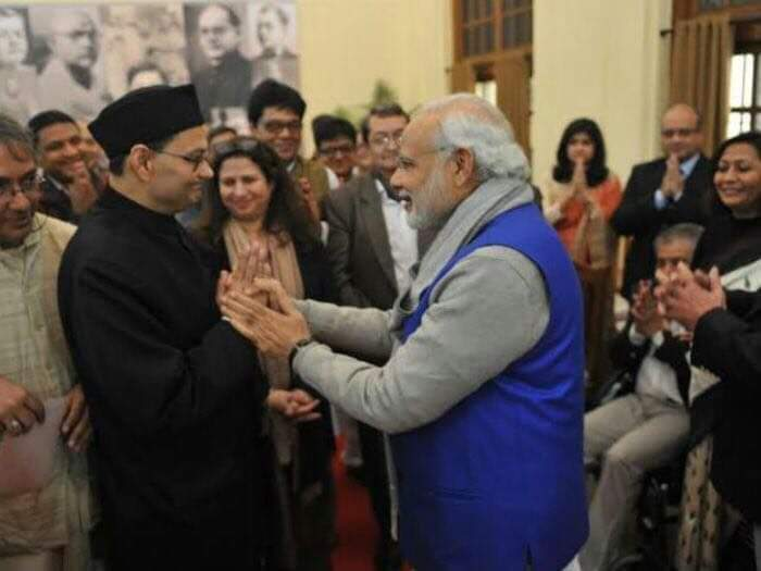 Chandra Kumar Bose with Prime Minister Narendra Modi. Photo courtesy of Chandra Kumar Bose